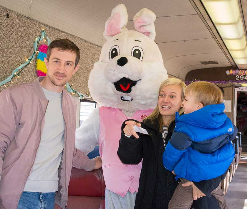 Easter Bunny with family