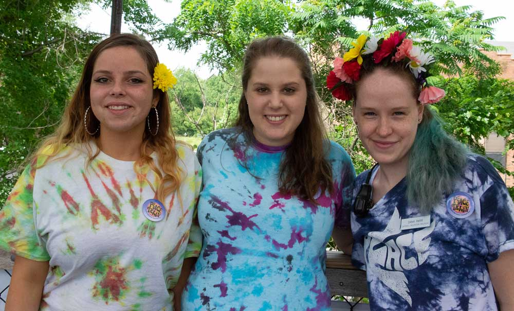 3 girls in tie dye tshirts