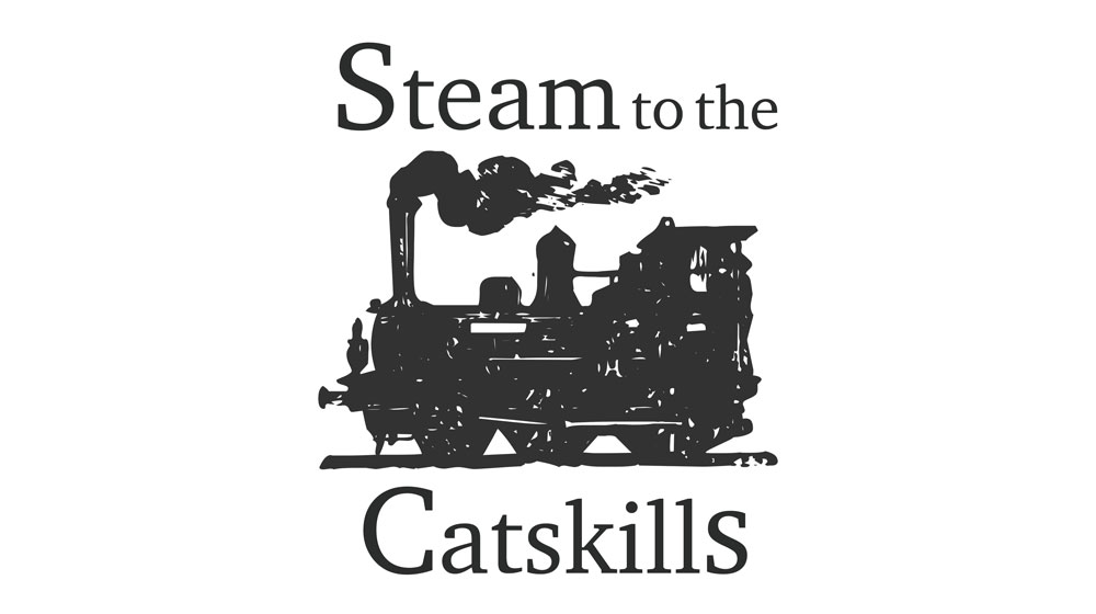 Steam to the catskills logo with train icon