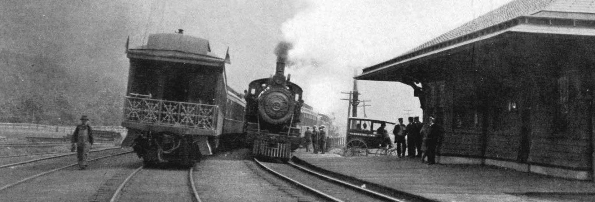 historical photo of train