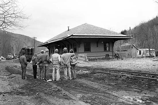 historical old photo of train station