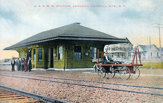 historical photo of train station